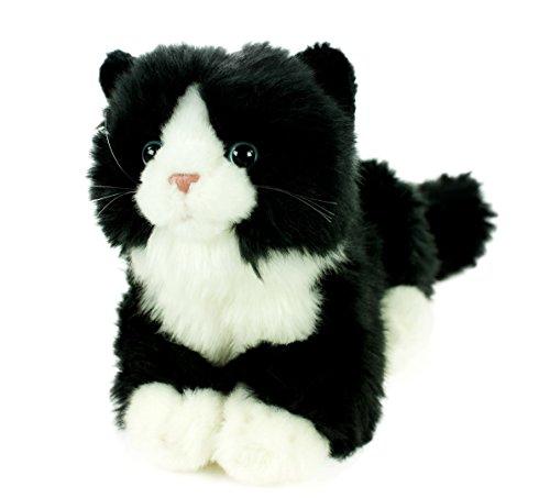 t Stimme liegend schwarz/weiß 23 cm Plüschtier Plüschkatze (Wie Hält Man Mäuse)