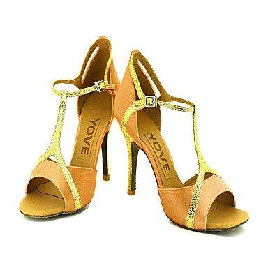 Scarpe da ballo Donna - Latinoamericano / Salsa - Customized Heel - Satin -Nero / Blu / Giallo / Rosa / Viola Black
