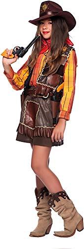 Carnevale Venizano CAV3807-L - Kinderkostüm Cowgirl - Alter: 7-10 Jahre - Größe: L (Sieben Neun Kostüm Verkauf)