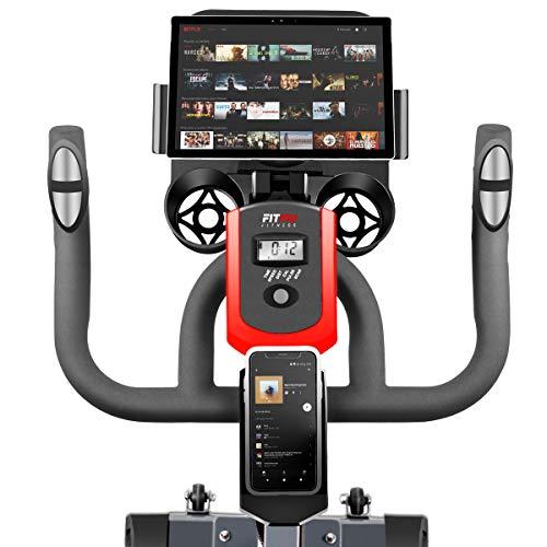 Fitfiu - BESP100 Silent+ Bicicleta spinning indoor con volante de inercia de 16kg, cuadro de acero con suspen