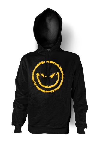 Halloween Kapuzenshirt – Böser Smiley – Hoodie mit gruseligem Motiv für die Halloween Party (Smiley Kostümen)