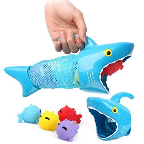 Little Fairy Fang Fish Hunt Pool Game Toy Set Summer Baby Play Water Vinyl Cartoon Animal Bath Shower Toy for Kids Children Over 2 Years Old