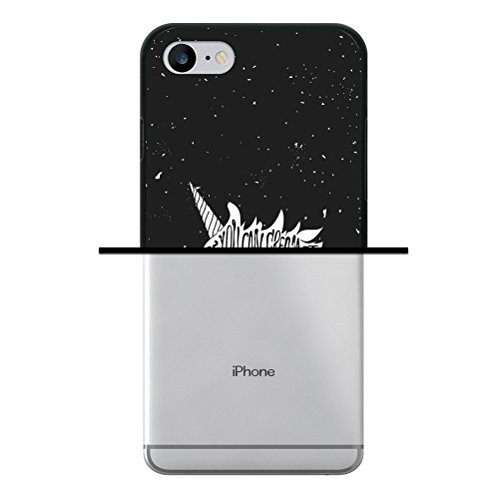 iPhone 7 Hülle, WoowCase Handyhülle Silikon für [ iPhone 7 ] Weisse Schokolade und Waffel Handytasche Handy Cover Case Schutzhülle Flexible TPU - Transparent Housse Gel iPhone 7 Schwarze D0373