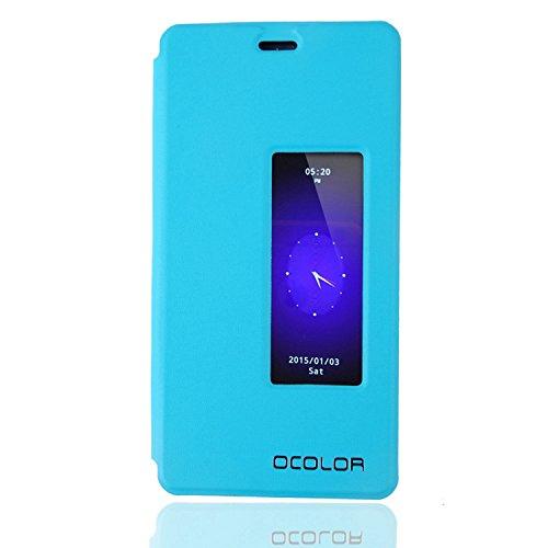 Guran® PU Leder Tasche Etui für Elephone P9000 Lite Smartphone (Keine Innenschale) Flip Cover Stand Hülle Case-blau