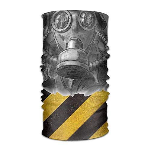 Man Wearing A Gas Mask Headwear For Men And Women-Yoga Sports Travel Workout Wide Headbands,Neck Gaiter,Bandana,Helmet Liner,Balaclava,Hair Turban,Scarf