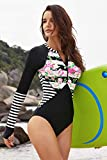 Boldgal Women's Swimwear Floral Striped Beach Top (Multi-Coloured)