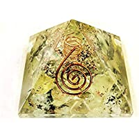 Crocon Prehnit Edelstein Energetische Pyramide mit Kristall Point Energie Generator für Reiki Healing Chakra Balancing... preisvergleich bei billige-tabletten.eu