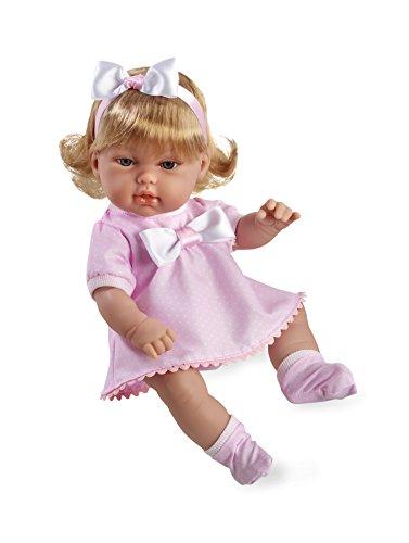 Arias - Muñeca bebé dulcito, color rosa, 33 cm (60155)