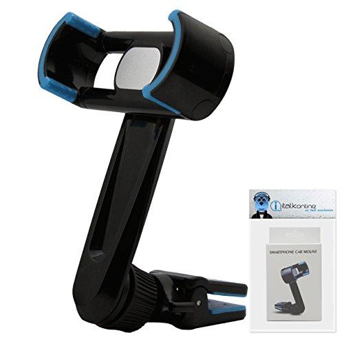 Case Kompatibel 360 Grad Multi-Richtung (Verwendung mit oder ohne Ihre vorhandene Fall!) Clip On Air Vent in Kfz Halterung für HTC P6300