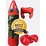 High Quality Sports Kids Boxing Set (Punching Bag, Gloves & Headgear) Set Of 3, Boxing Set For Boys, Boxing Set For Girls, Boxing Kit Includes Punching Bag, Boxing Gloves, Boxing Headgear.