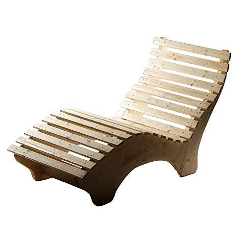 TUGA - Holztech Naturholz Massive wetterfeste extrem Stabile Luxus Relaxliege Massivholzliege Liege...