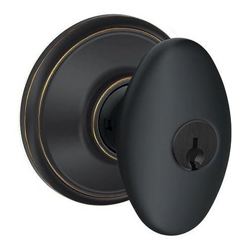Schlage F51-SIE Siena Keyed Entry F51A Panic Proof Door Knob, Aged Bronze by Schlage Lock Company