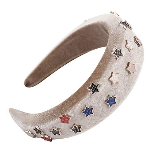 WoWer Stirnband Blumen, Stirnbänder Krone Haarband Kopfband Blume Haarbänder mit Elastischem Band für Hochzeit und Party -