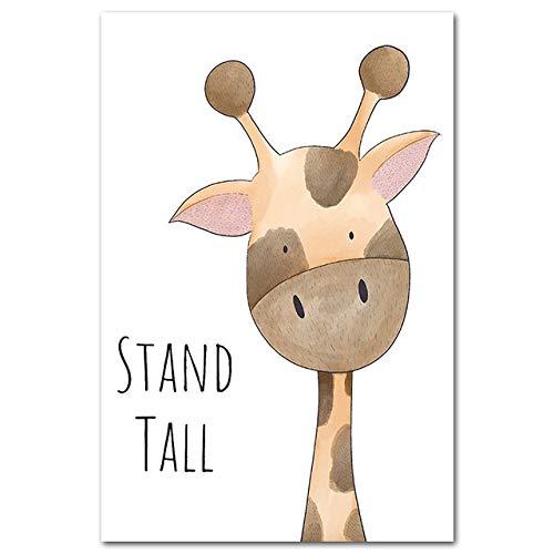 LiMengQi2 Druck malerei Tier nilpferd Giraffe AFFE löwe Poster Bild auf leinwand Kinder Dekoration Baby Zimmer (kein Rahmen)