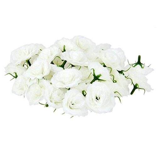 ELECTROPRIMEÃ?â??® 50Pcs Simulation Artificial Silk Flower Heads Craft Bridal Home Decor White