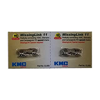 New Genuine 2 Sets KMC Missing Link 11 Speed CL555 For KMC & Shimano Silver