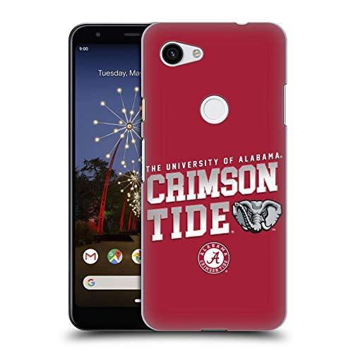 Head Case Designs Offizielle University of Alabama UA Crimson Tide Harte Rueckseiten Huelle kompatibel mit Google Pixel 3a Crimson University