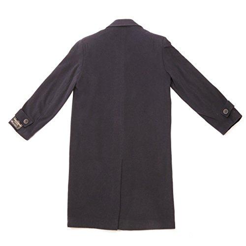 Classic Design Herren Duffle Mantel, Einfarbig Marineblau