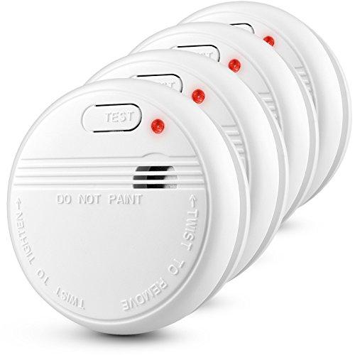 Elektrischer Rauchmelder Optischer Feuermelder Fotoelektrischer Rauchwarnmelder mit Batterie,...