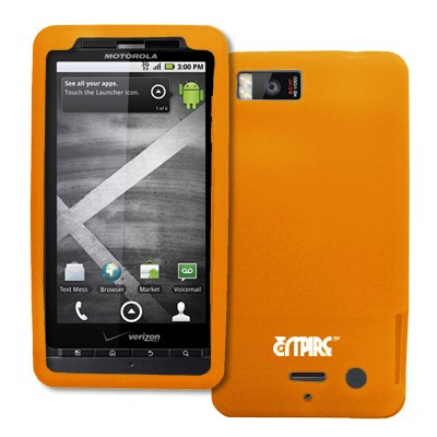 EMPIRE Orange Silicone Skin Case Tasche Hülle Cover for Verizon Motorola DROID X2