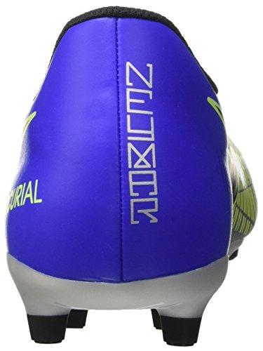 Nike Mercurial Vortex III Njr FG, Chaussures de Football Homme Bleu (Racer Blue Black Chrome Volt 407)