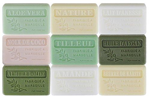 Lote de 9 jabones de Marsella con aromas...