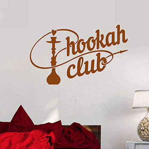 guijiumai Dctal Shisha Shop Aufkleber Mann Aufkleber Wandtattoo Shisha Smoking Smoke Arabisch Vinyl Aufkleber Kunstwand 3 36x58cm