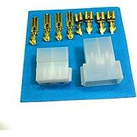Kit Conector Faston 4 Vías | Conector Macho + Conector Hembra + Terminales