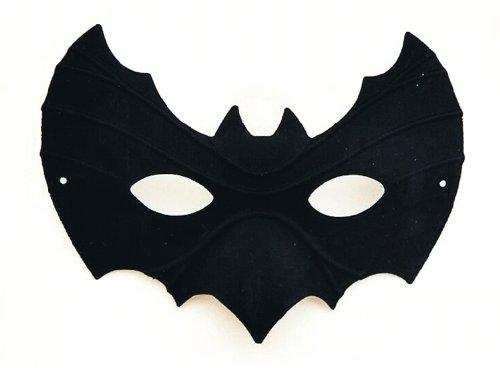 Karneval Zubehör Domino Fledermaus schwarz Maske zum Fasching Kostüm (Schwarze Domino Kostüme)