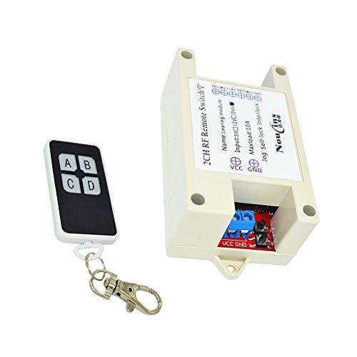 Gazechimp 2 Kanal Empfänger Modul Relais Modul mit 2 Tasten Fernsteuerung - 24v schwarz (Cb-funk-power)