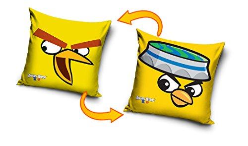Rovio Angry Birds 100% Baumwolle Kissenbezug Kissen Fall Home Decor, baumwolle, gelb, 41 x 41 cm (Angry Bird Kissen)
