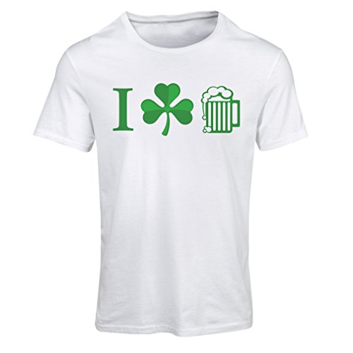 Frauen T-Shirt The Symbols of St. Patrick's Day - Irish Icons (X-Large Weiß Mehrfarben)