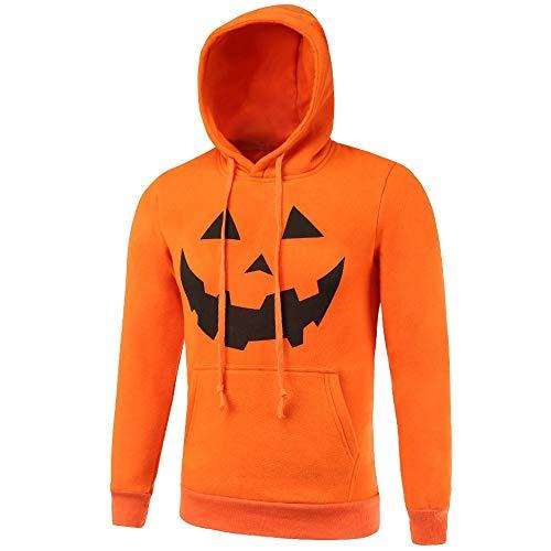 Clearance Sale [M-2XL] ODRDღ Halloween Hoodie Herren Sweatshirt Sweater Männer Mantel 3D Print Langarmshirts Strickwaren Trenchcoat Tops Pullover Outwear Strickjacke Sweatjacke Jacke Parka Hooded -