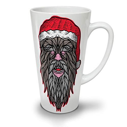 Wellcoda Cristmas Chewbacca Latte BecherLustig Kaffeetasse - Komfortabler Griff, Zweiseitiger Druck, robuste Keramik