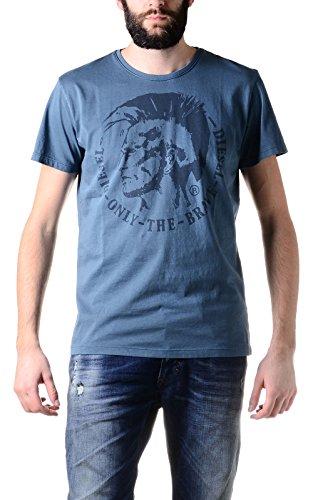 Diesel, T-Achell, Herren-T-Shirt, blau