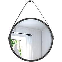 ZI LING SHOP- Espejo decorativo de pared de hierro nórdico Espejo decorativo de retro industrial de viento industrial Mirror ( Tamaño : 40x40cm )