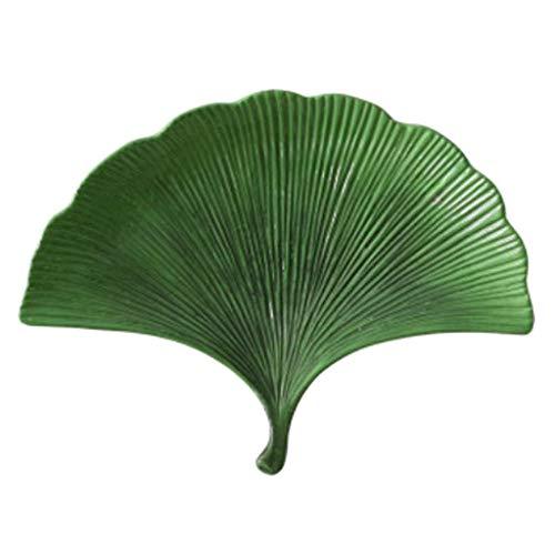 B Blesiya Obstschalen Servierplatte Schmuckteller für Nüsse Obst Schmuck - Grün