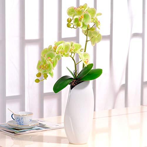 Tackebu orchidea artificiale fiori finti phalaenopsis composizione floreale soggiorno verde 55 × 34cm