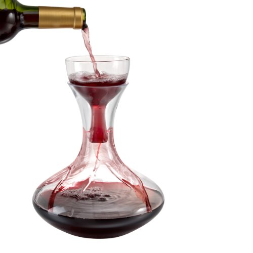 Sommelier, Rotweinkaraffe mit Belüfter
