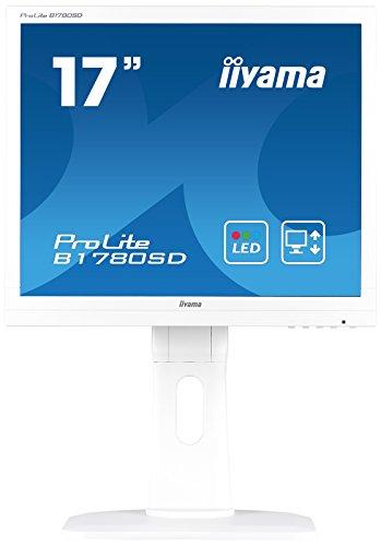 iiyama ProLite B1780SD-W1 43cm (17 Zoll) LED-Monitor SXGA (VGA, DVI, Höhenverstellung, Pivot) weiß