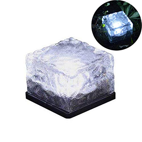 Naduew Luz Solar de ladrillo de Vidrio