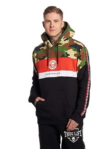 Thug Life Herren Hoodies Tiger schwarz M