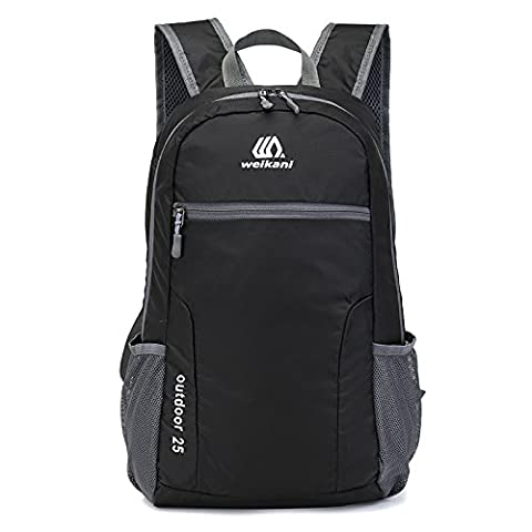 Packable Daypack,25L Lightweight foldable Backpack bag for men and women outdoor Sport Camping Hiking Cycling Travel and school Daily Usage