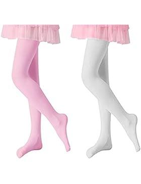 Vellette Medias de Ballet Medias Danza de Ninas Convertibles 120D (2 Pares)