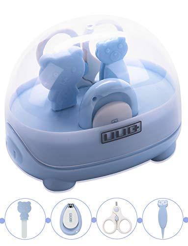 Baby Nagelknipser Set, UUQ Babypflege Set mit Nagelknipser, Sicherheit Schere, Nasale Pinzette und Nagelfeile für Neugeborene, Baby, Kleinkinder, Kinder