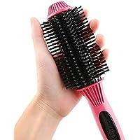Cepillo eléctrico para alisar el cabello, Calentamiento del pelo alisador Cerámica Desenredante Peine Cepillo anti