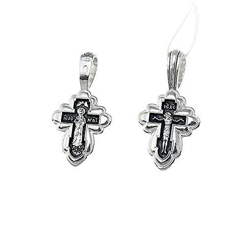 NKlaus Sterlingsilber Kreuzfix 925 Anhänger Orthodox russisch 4557 Taufe