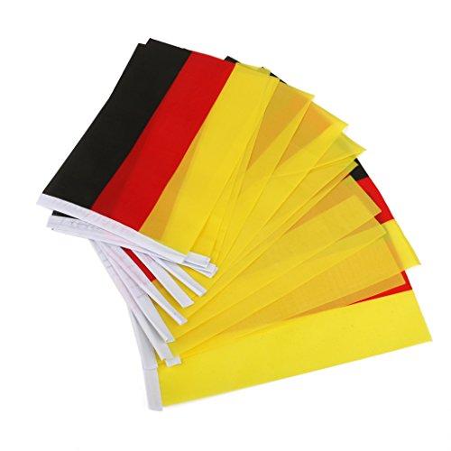 sharprepublic 12st Hand Hand Winken Nationalflaggen Kleine Banner & Pole Land Wählen - Deutschland