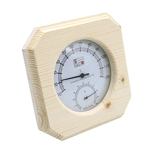 Hook.s Holz Hygrothermograph Thermometer Hygrometer Sauna Zubehör Temperaturbeständig