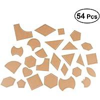 Healifty Conjunto de Acolchado Plantillas de Dibujo Manual Bordado Modelo DIY Herramienta de Costura 54 Piezas